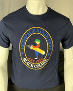 Load image into Gallery viewer, Bethpage Black Course logo displayed on navy short sleeve tee