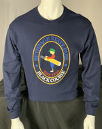 Load image into Gallery viewer, Bethpage Black Course logo displayed on navy long sleeve tee