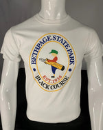 Load image into Gallery viewer, Bethpage Black Course logo displayed on white short sleeve tee