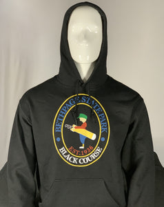 Black Sweatshirt Hoodie with the Bethpage Black Course logo
