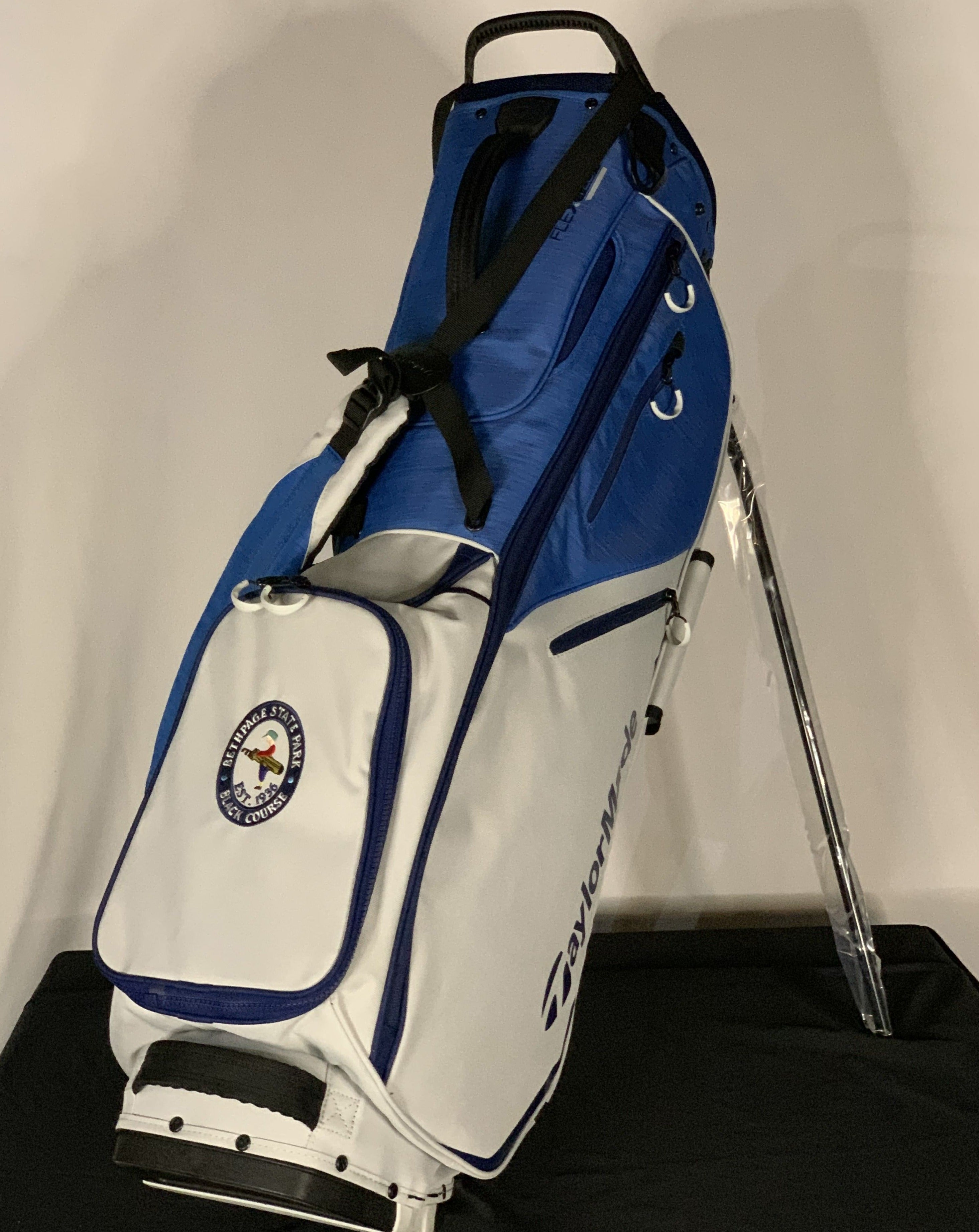 TaylorMade FlexTech Stand Bag in Blue and Light Gray