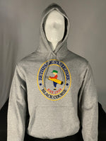 Load image into Gallery viewer, Gray Sweatshirt Hoodie with the Bethpage Black Course logo