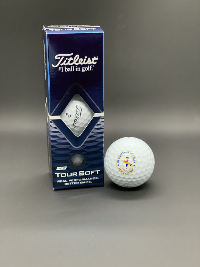 Titleist Tour Soft Sleeve of Bethpage Black logo golf balls
