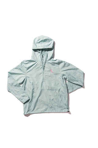 100 Miles lightblue pink original logo nylon windbreaker