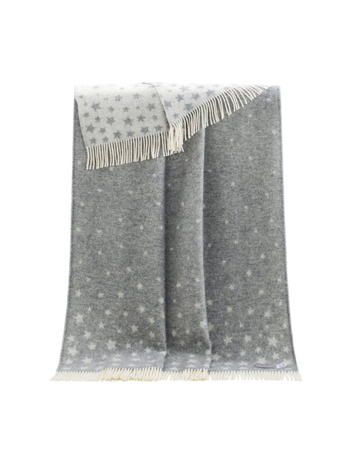Grey Stars pure wool throw