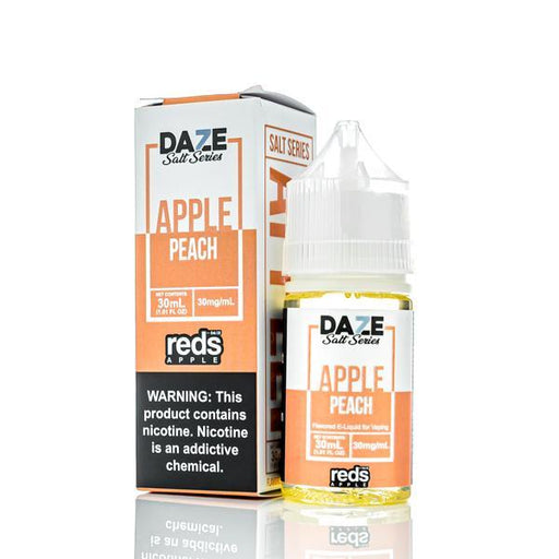 7 Daze Salt Series Vape Juice - Red's Apple Peach