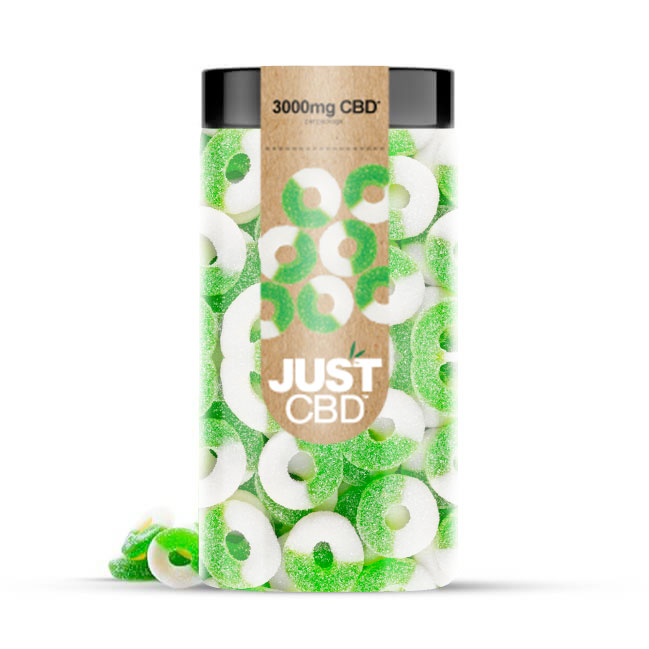Just CBD 3000mg CBD Gummies - Apple Rings