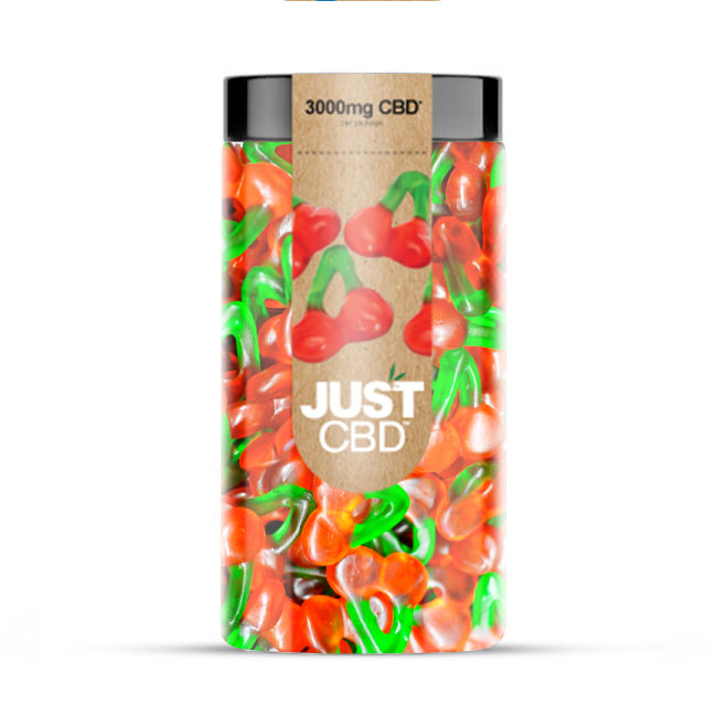 Just CBD 3000mg CBD Gummies - Gummy Cherries