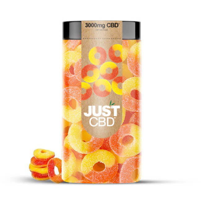Just CBD 3000mg CBD Gummies - Peach Rings