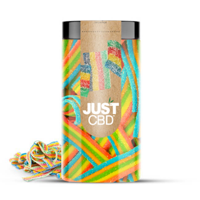 Just CBD 3000mg CBD Gummies - Rainbow Ribbons