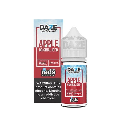 7 Daze Salt Series Vape Juice - Red's Apple Original Iced