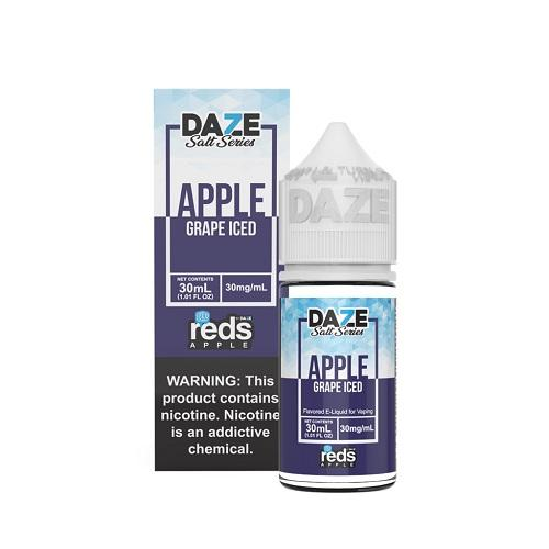 7 Daze Salt Series Vape Juice - Red's Apple Grape Iced