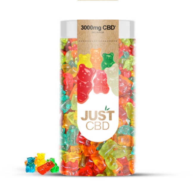 Just CBD 3000mg CBD Gummies - Sugar Free Bears