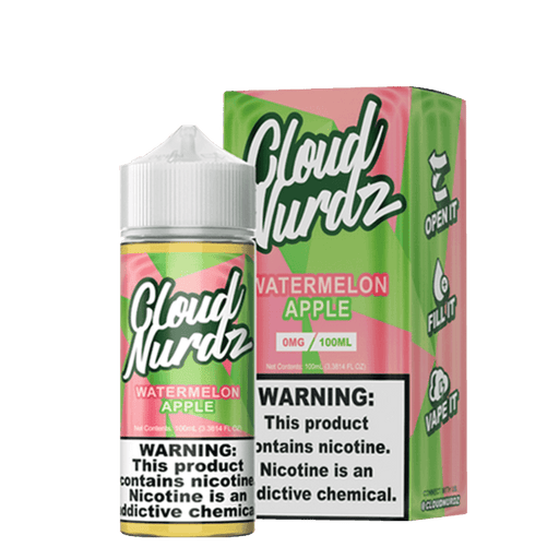 Cloud Nurdz Vape Juice - Watermelon Apple