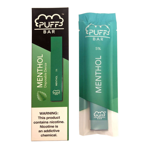 Puff Bar Disposable Vape Bars - Spearmint (Menthol)