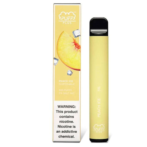 Puff Plus Disposable Vape Bars - Peach Ice