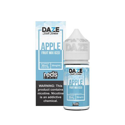 7 Daze Salt Series Vape Juice - Red's Apple Fruit Mix Iced