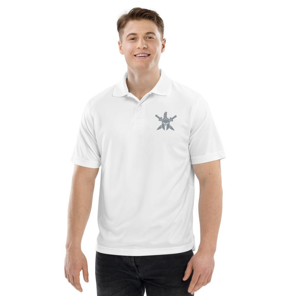 Herren-Champion-Performance-Polo-Shirt bestickt weiss - Knights - Stagehand Lifestyle