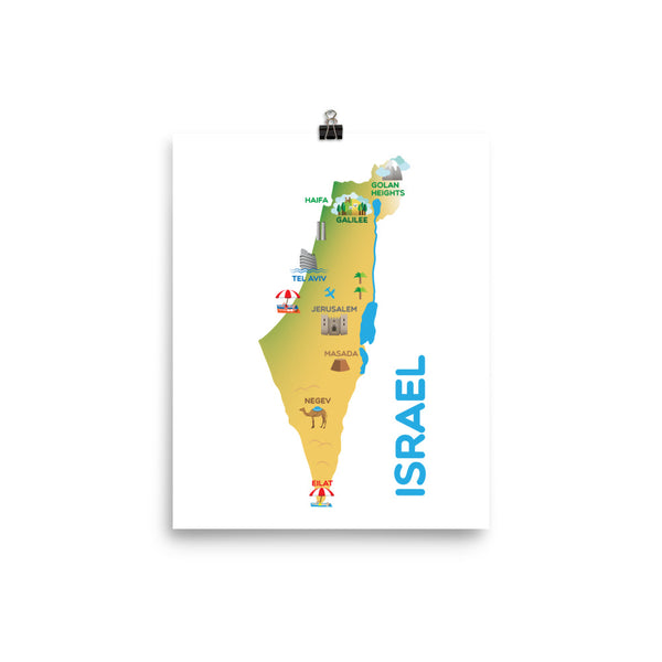 Map of Israel Poster