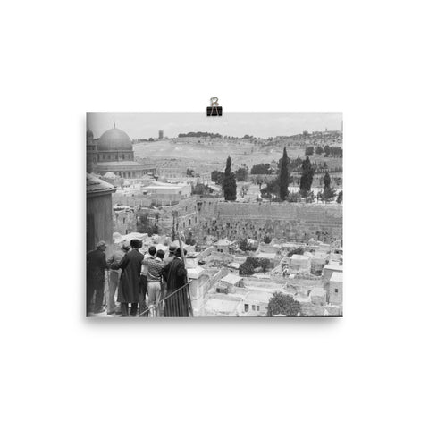Old City of Jerusalem | Overlooking The Western Wall Poster (4 sizes available!)