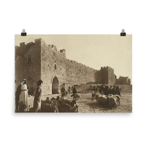Sheep market outside Herod's Gate (1900)