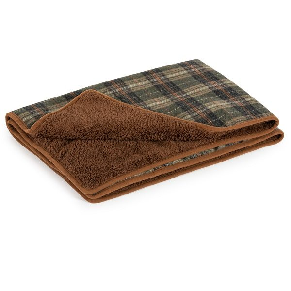 Ancol Heritage Luxury Green Check Blanket
