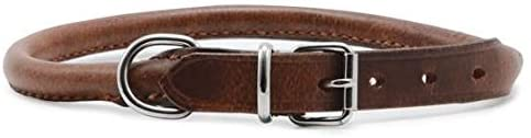 Ancol Heritage Round Leather Chestnut Collar (Size 4)