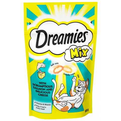 Dreamies Mix Cat Treats with Salmon & Cheese 60g