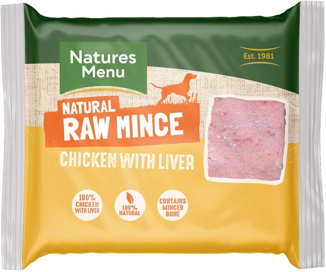 Natures Menu Chicken & Liver Mince Blocks
