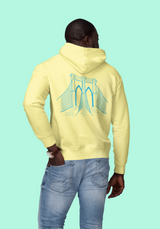 Unisex Cotton/Poly Midweight Fleece Hooded Sweatshirt.
