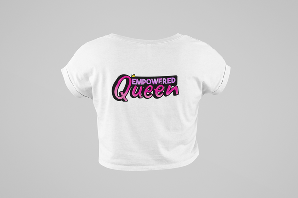Empowered Queen Flowy Cropped Tee
