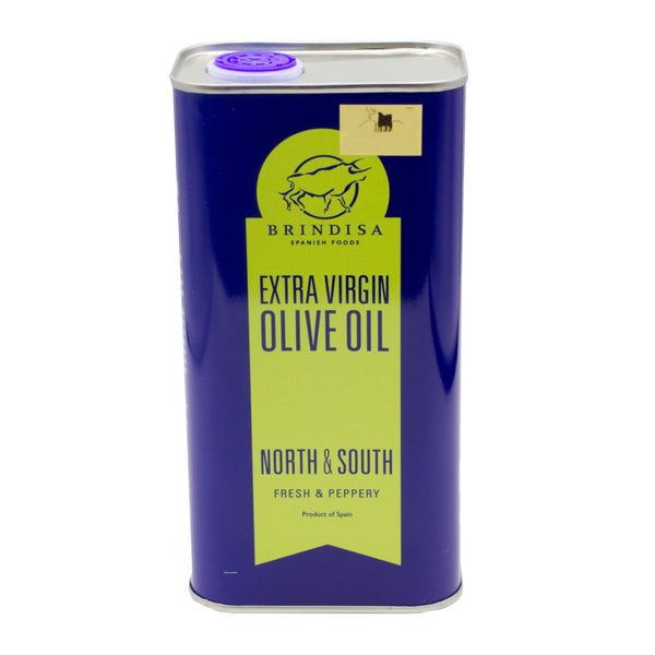 Brindisa Extra Virgin Olive Oil - North & South - Fresh & Peppery - 1 Litre