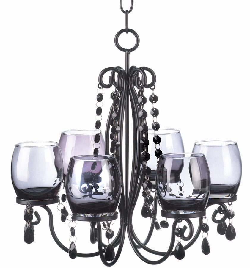 Midnight Elegance Smoked Glass Chandelier