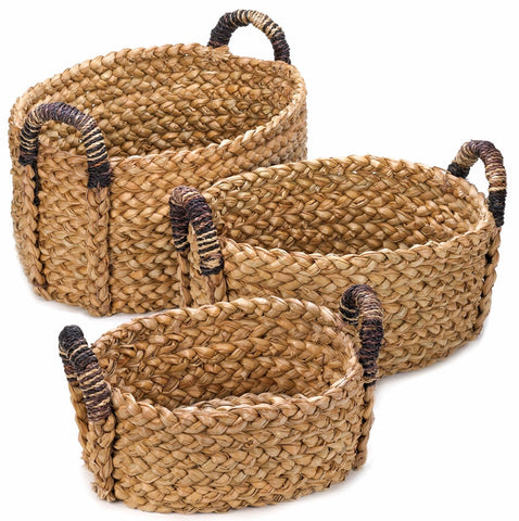 Large Straw Basket Set