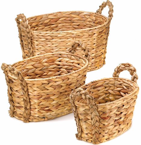 Oblong Hyacinth Basket Set