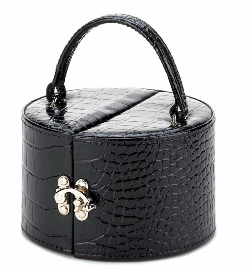 Black Faux Snakeskin Jewelry Box