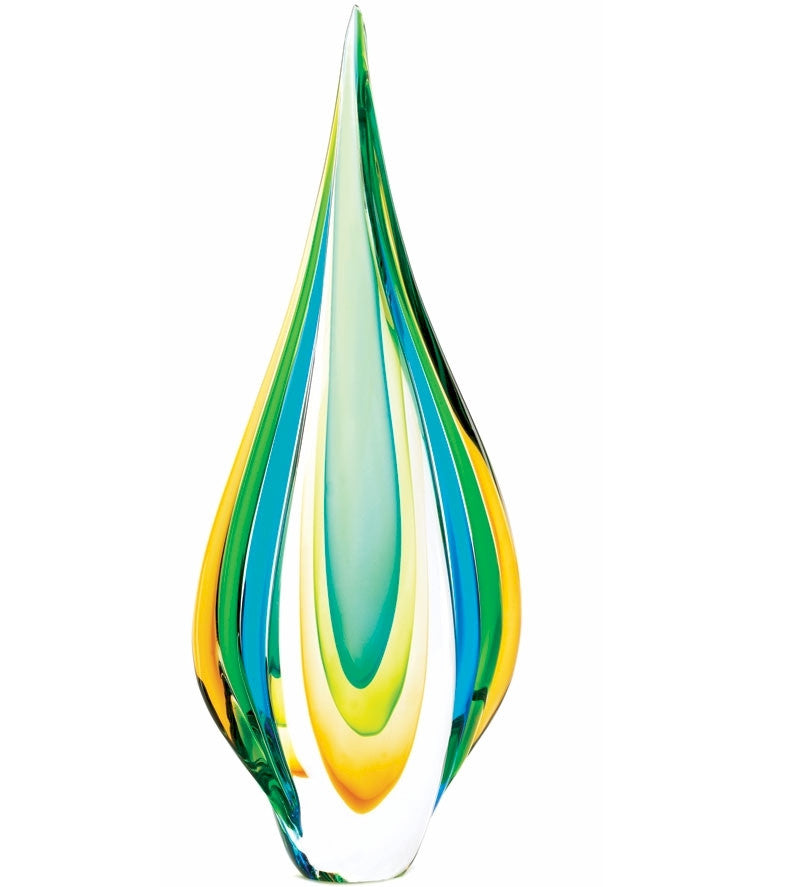 Color Flame Glass Sculpture