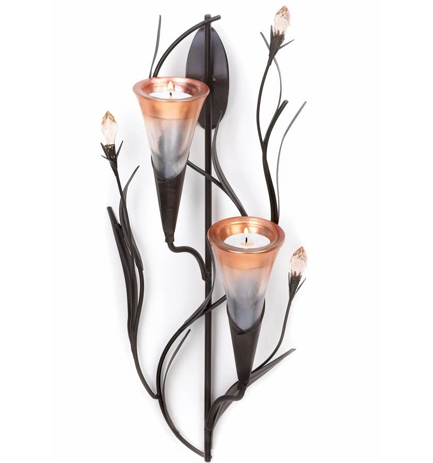 Double Dawn Blossom Wall Sconce