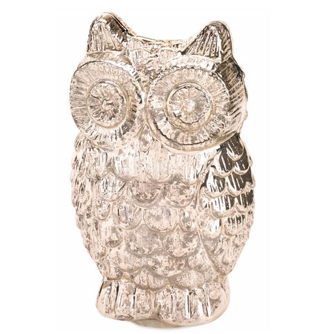 Mercury Glass Owl Figurine