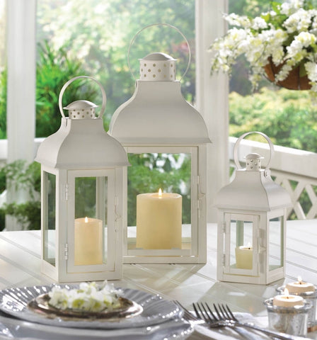 White Gable Lanterns