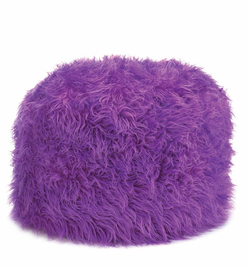 Orchid Long Haired Pouf