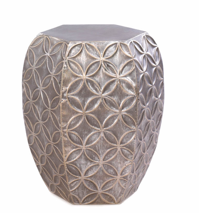 Silver Symmetry Stool/Table