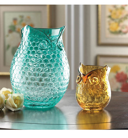 Owl Glass Vase