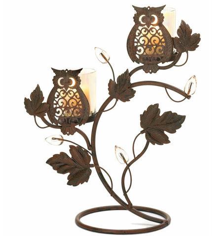 Wise Owls Candleholder