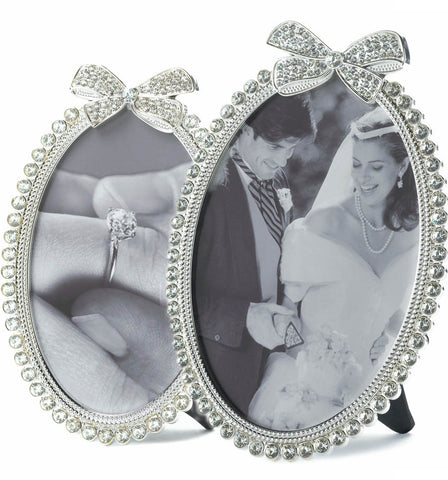 Rhinestone Bow Photo Frames