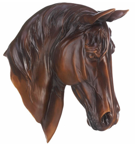 Chestnut Horse Head Plaque