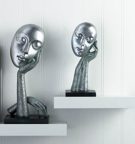 Abstract Face Statues