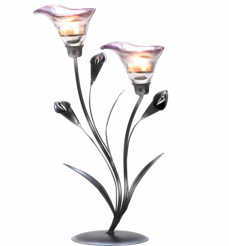 "15"" Calla Lily Candleholder"