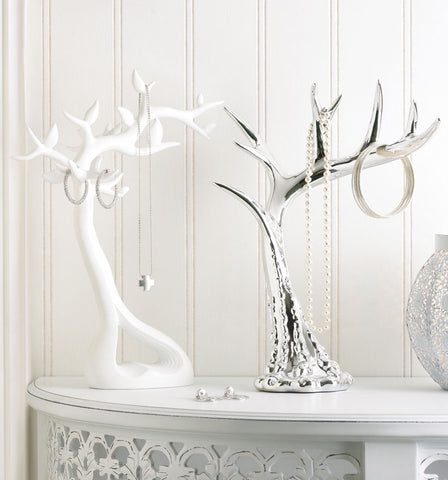 White Branch Jewelry Tree