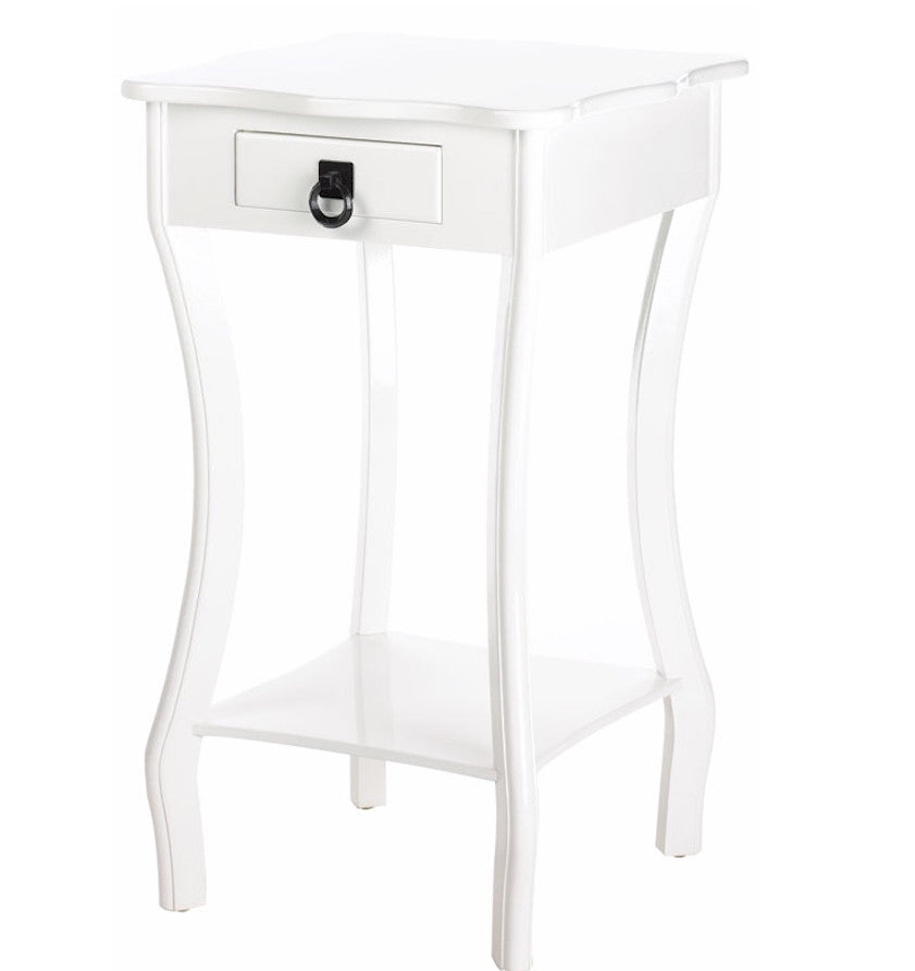White Gloss Accent Table